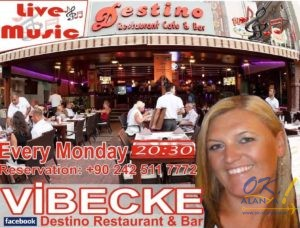 Live music — Vibecke в Destino Restaurant Cafe & Bar @ Destino Restaurant Cafe & Bar